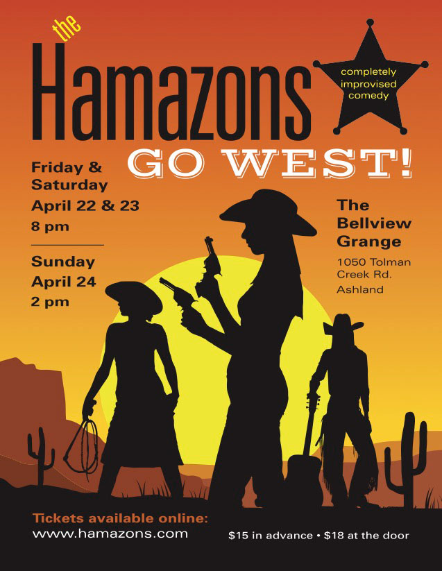 The Hamazons, Cowgirl Go West Poster